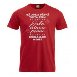 """T-paita """" MÄ JOKA PÄIVÄ..."""