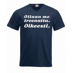 """V-aukkoinen T-paita """"OLLAAN..."""