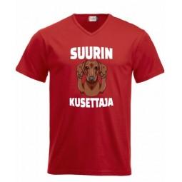 """SUURIN KUSETTAJA""  v-neck 2"