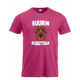 """T-paita """" SUURIN KUSETTAJA """" 2"""